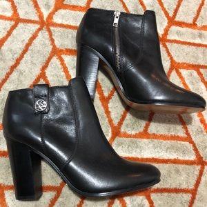 Coach Tavi Calf Bootie Black Leather Ankle Boot